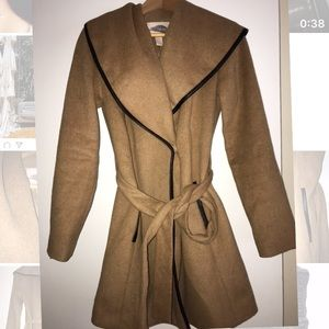 Forever 21 contemporary brown black thick coat